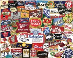American Beer Labels Adult Beverages Impossible Puzzle