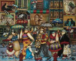 Raining Cats & Dogs People Jigsaw Puzzle