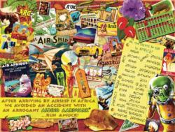 Oh, the Sights You'll See in Africa Collage Jigsaw Puzzle