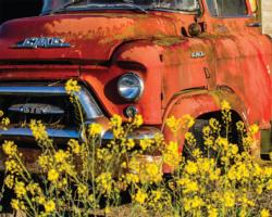 Red Truck Vehicles Jigsaw Puzzle