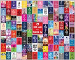 Keep Calm Puzzle On Collage Jigsaw Puzzle