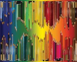 Pencils, Pencils, Pencils Abstract Jigsaw Puzzle