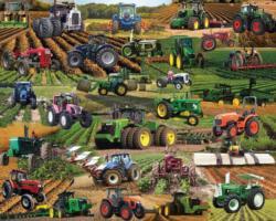 Tractors, Tractors, Tractors Vehicles Jigsaw Puzzle
