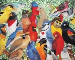 Birds, Birds, Birds Collage Jigsaw Puzzle