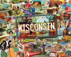 Wisconsin Collage Jigsaw Puzzle