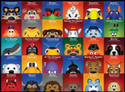 NHL Mascots Collage Children's Puzzles