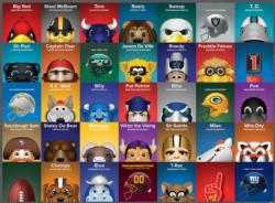 NFL Mascots Collage Children's Puzzles