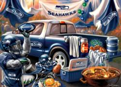 Seattle Seahawks Gameday Football Jigsaw Puzzle