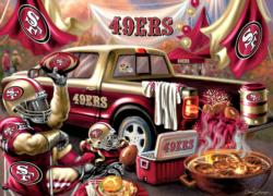 San Francisco 49ers Gameday Football Jigsaw Puzzle