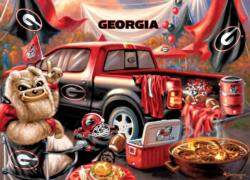 Georgia Gameday Football Jigsaw Puzzle
