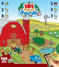 101 Things to Spot on the Farm Cartoons Jigsaw Puzzle