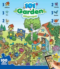 101 Things to Spot in the Garden Cartoons Jigsaw Puzzle