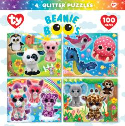 Beanie Boo Glitter 4-pack Unicorns Children's Puzzles