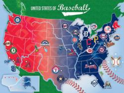 MLB USA Map Baseball Jigsaw Puzzle