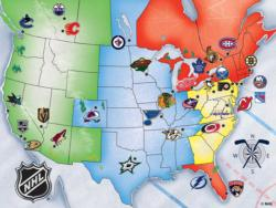 NHL USA Map United States Jigsaw Puzzle