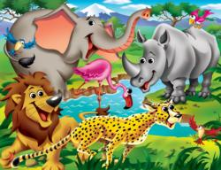 Safari Cartoons Children's Puzzles