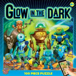 Robots (Glow in the Dark) Cartoons Children's Puzzles