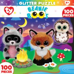 Campfire Club (Glitter Puzzle) Baby Animals Children's Puzzles