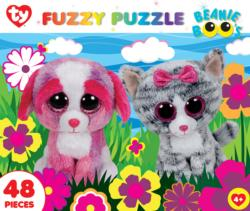 Garden Buddies (Fuzzy Puzzle) Dogs Jigsaw Puzzle