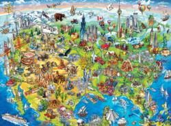North America Geography Children's Puzzles