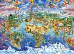 World Map Geography Jigsaw Puzzle