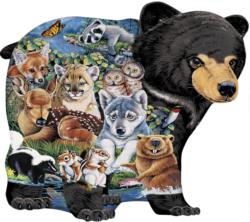 Shaped Forest Friends Right Fit Collage Children's Puzzles