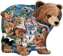 Forest Friends Shaped Bears Jigsaw Puzzle