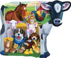 Farm Friends Shaped Farm Animals Jigsaw Puzzle