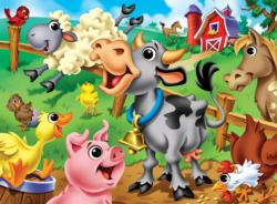 Farm Animals Cartoons Children's Puzzles