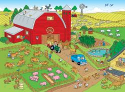 Things to Spot on a Farm Cartoons Jigsaw Puzzle