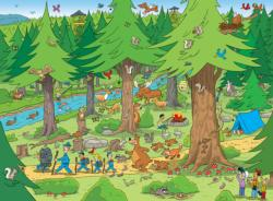 Things to Spot in the Woods Cartoons Jigsaw Puzzle