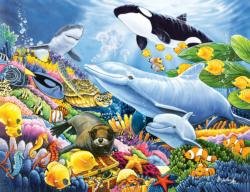 Undersea Friends - Scratch and Dent Dolphins Jigsaw Puzzle