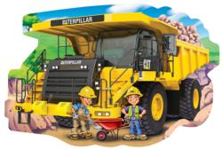 Caterpillar Dump Truck Vehicles Shaped Puzzle