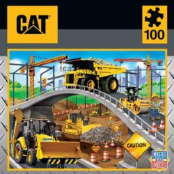 Caterpillar - Under The Bridge Construction Jigsaw Puzzle