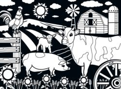 Farm 60pc (Velvet) Farm Coloring Puzzle