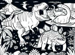Dinosaurs (Velvet) Dinosaurs Coloring Puzzle