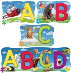 ABCs 4 Pack Puzzle Alphabet/Numbers Multi-Pack
