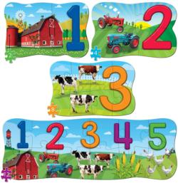 123 on the Farm 4 Pack Puzzle Pi Day Multi-Pack