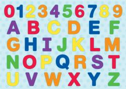 ABC 123 Wood Puzzle Alphabet/Numbers Children's Puzzles