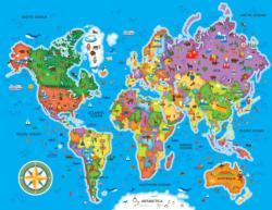 World Map - Scratch and Dent Maps / Geography Children's Puzzles