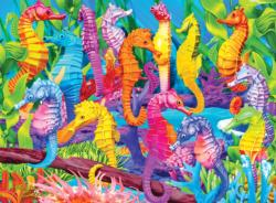 Singing Seahorses - Scratch and Dent Under The Sea Jigsaw Puzzle