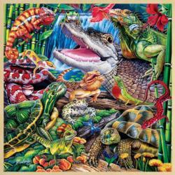 Reptile Friends Reptiles / Amphibians Wooden Jigsaw Puzzle