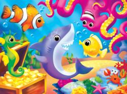 Lil Shark Cartoon Jigsaw Puzzle