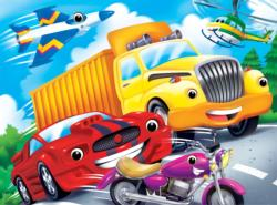 Vehicles Cartoon Jigsaw Puzzle