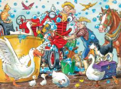 Squeaky Clean Farm Children's Puzzles