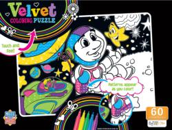 Space Astronauts Stars Coloring Puzzle
