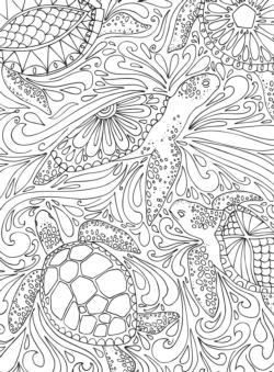 Undersea Coloring Puzzle Under The Sea Coloring Puzzle