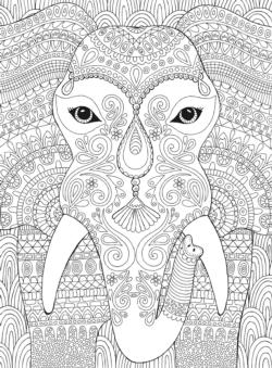 Elephant Coloring Puzzle Elephants Jigsaw Puzzle