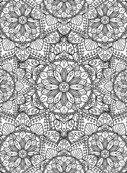 Mandala Pattern Coloring Puzzle Flowers Jigsaw Puzzle