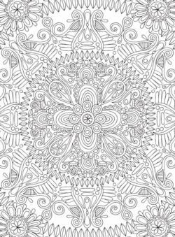 Single Mandala Mandala Coloring Puzzle